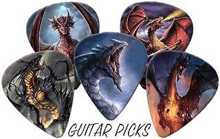 Dragons Full Colour Premium Guitar Picks x 5 Medium 0.71