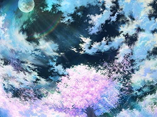 ZHAOMU-3D Puzzle De 1000 Piezas (Póster Pink Sakura Art Hd). Como Tetris, Un Juguete Educativo Apto Para Niños Y Adultos. Regalo De Cumpleaños 75 × 50Cm.