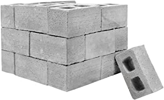 Fan-Ling New 28pcs Mini Cement Bricks and Mortar Let You Build Your Own Tiny Wall Mini Bricks,DIY Toy,Creative Crafts,DIY Mini Craft Landscape Decoration (Gray)