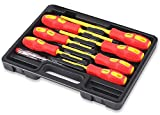 HORUSDY 8-Piece 1000v Insulated Screwdriver Set, Magnetic Tip Electrician screwdriver Set