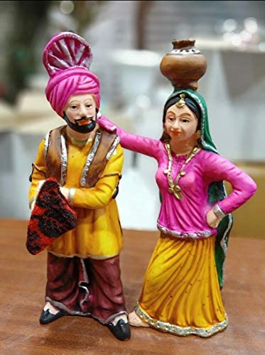 Crafting with Love A HANDMDE Beautiful Punjabi Couple Set Enhance The Beauty of Your Home product image