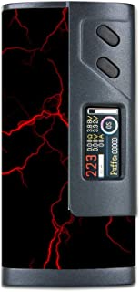 Skin Decal Vinyl Wrap for Sigelei Fuchai 213w PLUS Vape Mod Skins Stickers Cover / Red Lightning Bolts Electric