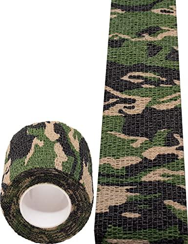Outdoor Saxx Cinta de camuflaje de camuflaje resistente al agua, equipo de cámara multiusos para cazadores de pesca, fotógrafos de 4,5 m x 5 cm