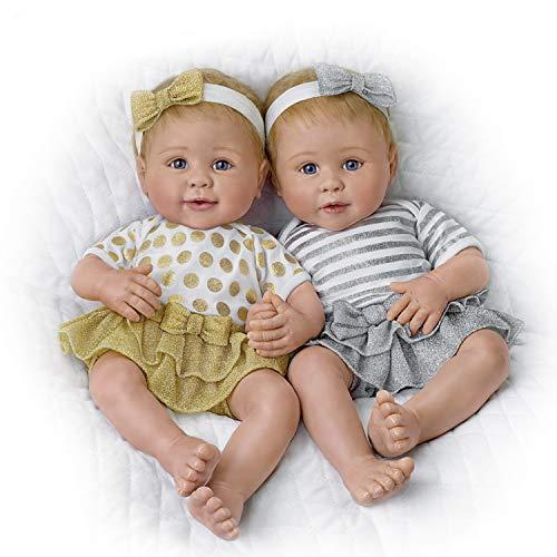 The Ashton-Drake Galleries Linda Murray Lifelike Silicone Twin Baby Dolls from Ashton Drake: Set of Two
