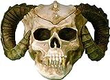 Human Skull Voodoo Skeleton Evil Demon Devil Ram Horn Vampire Ashtray Stash USA