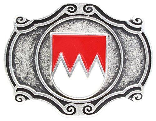 Brazil Lederwaren Gürtelschnalle Wappen Franken 4,0 cm   Buckle Wechselschließe Gürtelschließe 40mm Massiv   für Lederhose Dirndl Tracht