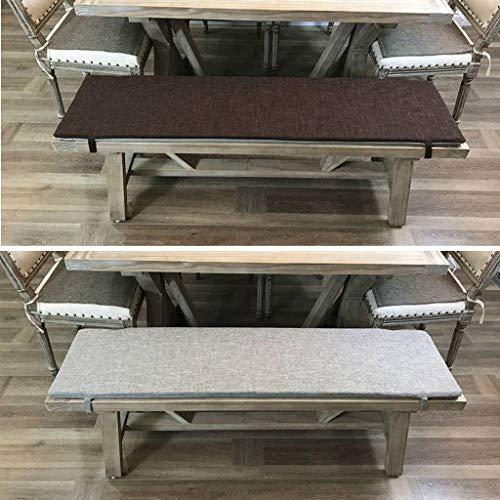 ZHI-HAN Bench Cushion, rechthoek Dikke zachte slip cover Chaise Kussen Schuim Tufted Outdoor Platform Chair Cushion Geschikte Swing Patio-35 * 80 * 3cm-F