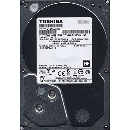 Toshiba DT01ACA300 HDKPC08A0A01 3000GB 3TB SATA3 6Gb/s 7200RPM