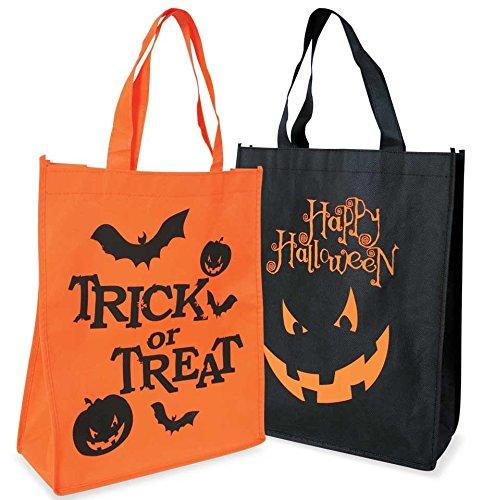 Partychic Halloween-Tasche, mit Aufdruck, in schwarz oder orange, 29x34x10cm