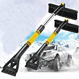 Nesee Car Snow Brush Removal Extendable with Ice Scraper and Foam Grip Detachable Snow Mover for Car Auto SUV Truck Windshield Windows