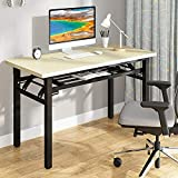 YJHome Small Computer Desk Student Folding Table 31.5' X 15.75' X 29' Work Study Writing Desk...