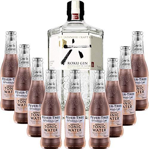 Paquete Gintonic - Gin Roku + 9 aromático Fever Tree Tónica - (70cl 20cl * + 9)