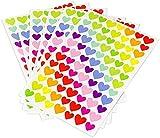 Sticker für Kinder & Kalender zum markieren von Ereignissen , 6 Blatt Bunte Herzen ca. 300 Stück Tagebuchsticker | Aufkleber | Geschenk | Tagebuch | Herz