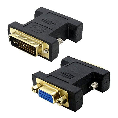 VMOJO DVI auf VGA Adapter DVI-I 24+5 Stecker zu VGA HD15 Buchse Konverter Digital auf Analog Adapter