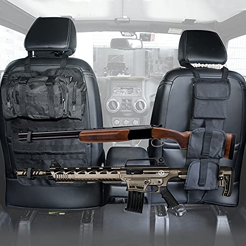 Z8LED Tactical Seat Back Gun Rack with Molle Panel Vehicle...