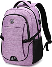 SHRRADOO Anti Theft Laptop Backpack Travel Backpacks Bookbag with usb Charging Port for Women & Men School College Students Backpack Fits 15.6 Inch Laptop Purple