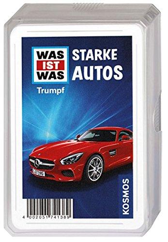 KOSMOS 741389 - WAS IST WAS Starke Autos, Kartenspiel zum Thema Auto, für Kinder ab 8 Jahre, Mitbringsel, kleines Geschenk und Mitgebsel für den Kindergeburtstag