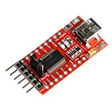 HiLetgo FT232RL FTDI Mini USB to TTL Serial Converter Adapter Module 3.3V 5.5V FT232R Breakout FT232RL USB to Serial Mini USB to TTL Adapter Board for Arduino