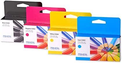 Primera 53465 High Yield Cyan Magenta Yellow Ink Cartridge 4-Pack for LX1000, LX2000 Color Label Printers