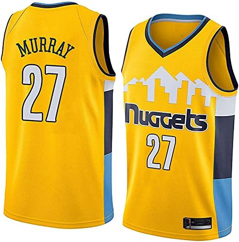 GLACX (5 Estilo) NBA Denver Nuggets 27# Murray Classic Jersey, Retro cómodo/Ligero/Transpirable Camisetas Deportivas de Malla Bordada, Fan para Unisex Swingman Jerseys,D,L
