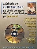 Partition : Methode de guitare jazz J. Bonal + CD