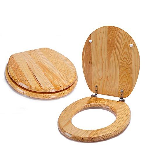 MSV WC Sitz Toilettendeckel Holz