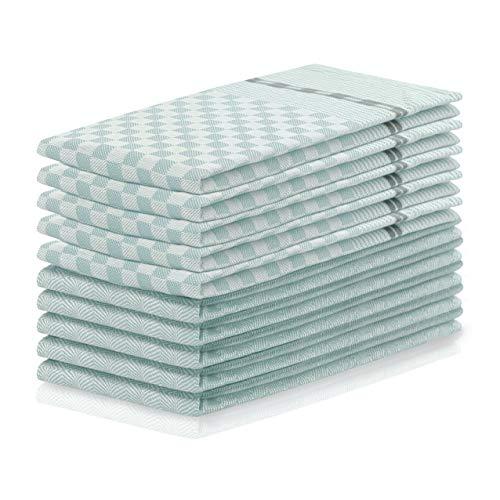 DecoKing 10er Set keukendoeken 50x70 cm met hanger 100% katoen hoogwaardige theedoeken Louie
