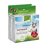 NovaGard Green Doppelpack Sparpack Spot-on für Katzen zum auftropfen gegen Zecken, Flöhe und Milben.
