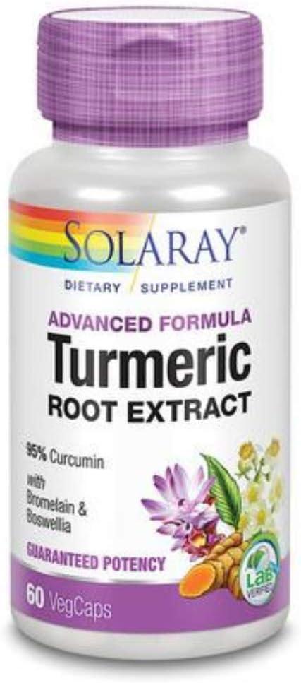 Cheap mail order shopping Solaray - Guaranteed Potency Turmeric Popular overseas Root Extract 200 mg 60