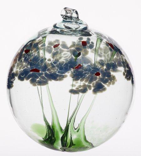 Kitras 6-Inch Blossom Ball Glass Ornament, Sympathy