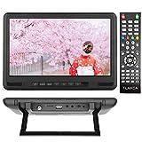 TLAXCAワンセグテレビ10.1インチ液晶ポータブルテレビ車載用バック 録画機能搭載 アンテナケーブル 地デジ ワンセグEPG 電子番組表など多機能搭載ミニ携帯テレビ 車載用DCアダプターmini B-CASカード付きPSE認証済(ブラック)