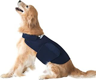 Eagloo Dog Anxiety Jacket Calming Vest for Dog Anxiety Shirt Dog Anxiety Calming Wrap Anti Anxiety & Stress Relief Lightweight Calming Coat for Pet for Thunder and Anxiety Navy Blue