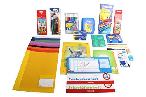 BOVENSIEPEN Starter SORGLOS Paket für die 1. Klasse Grundschule. i-Dötzchen Paket...Schulhefte, Bleistifte, Schreibblöcke, Radiergummi, solide feste Schnellhefter, Pinsel, Malfarben....alles dabei