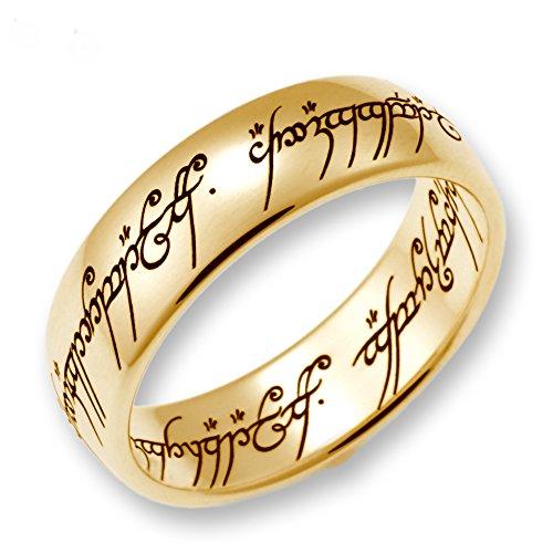 Herr der Ringe Schmuck by Schumann Design Der eine Ring Gelbgold 333 Rg 60 4000-060