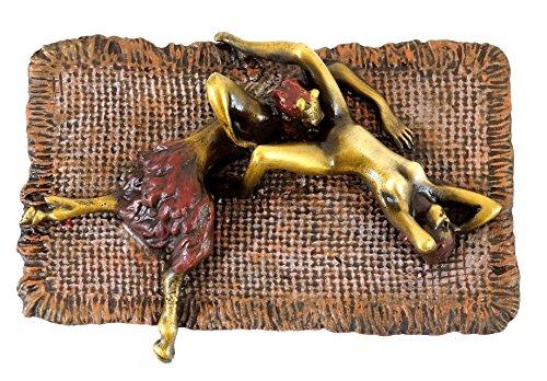Kunst & Ambiente Erotische Bronze - Faun befriedigt Jungfrau - Echte Bronze - Bergmann-Stempel