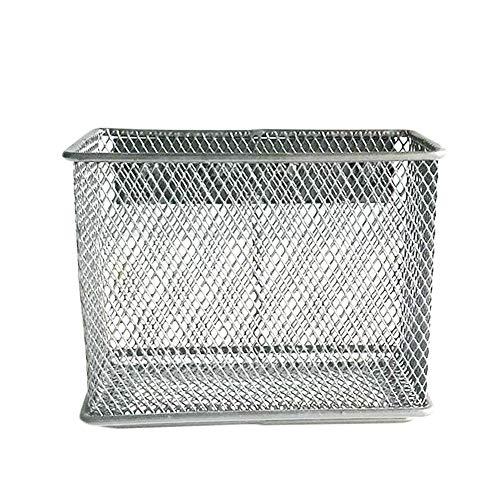 Cesta de alambre magnética, soporte de almacenamiento colgante – para taquilla, nevera, pizarra blanca – accesorios de almacenamiento para el hogar, cocina, oficina (M)