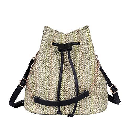 Luckycat Bolsas de mano para mujer para verano viaje bolso de hombro bolso de paja bolso de playa bolso de mano Bolso de Mimbre Monedero del Bolso de Hombro del Monedero Mujeres Bolsas de Asas