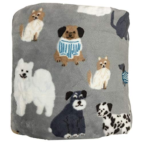 The Big One Oversized Plush Throw (Sweater Dogs) - 5ft x 6ft Super Soft and Cozy Micro-Fleece Blanket for Couch Bedroom Office or On-The-Go