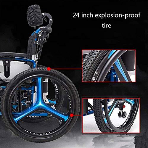 51G1ULxM3IL - Sillas de ruedas eléctricas para adultos Silla de ruedas eléctrica Silla de ruedas plegable y reclinable silla de ruedas, ancianos y discapacitados de cuatro ruedas del vehículo Cuidado, 150 kg de automobile