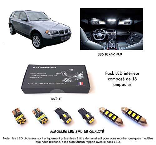 Pack FULL LED intérieur pour X3 E83 (Kit ampoules blanc pur)