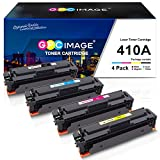 GPC Image 410A Toners Compatibili per HP 410A CF410A 410X CF410X Cartucce Toner per HP Color LaserJet Pro MFP M477fdw M377dw M452dn M477fdn M477fnw M452nw M477dw M477 M452 Stampante (4 Pezzi)
