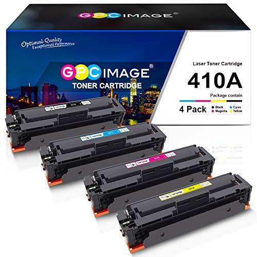 GPC Image Kompatible Toner als Ersatz für HP CF410A 410A 410X CF410X für HP Color Laserjet Pro MFP M477fdw M377dw M477fdn M477fnw M452dn M452nw M452dw M477 M452 M377(CF410A CF411A CF412A CF413A,4Pack)