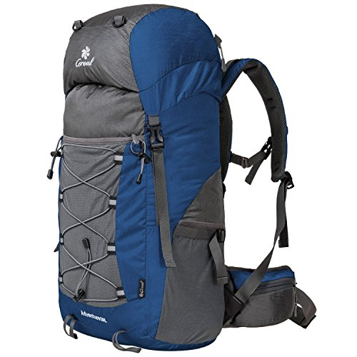 Coreal unisex 50l hiking backpack for travel outdoor sport camping trekking lightweight Dark Green