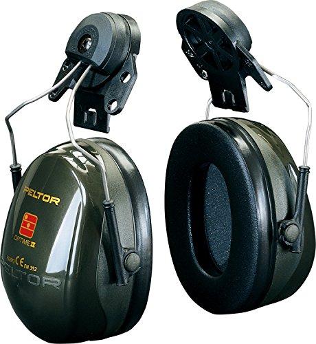 3M PELTOR Optime II Orejeras para casco Verdes 30 dB (1 orejera/caja), H520P3A-410-GQ