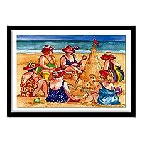 ダイヤモンド絵画キット 大人 子供用 浜辺の女 刺繍 クロスステッチ クリスタルラインストーン モザイクペイント ホームデコレーション ギフト 30x40cm