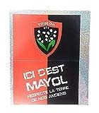 RCT Planche Autocollants 2 Rectangles Rugby Club TOULONNAIS avec Blason ET Ici C'est MAYOL Dimension Autocollant 8.5X6 CM.5 CM