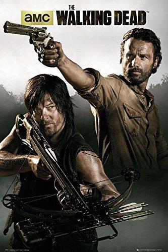 Poster The Walking Dead Rick Grimes & Daryl Dixon (61cm x 91,5cm) + un poster surprise en cadeau!