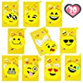 Aulinx Valentines Day Gift Cards for Kids Boys Girls with Assorted Jumbo Emoji Plush Key-chain Emoji Key Ring Valentine Classroom Exchange Goodie Bag Party Supplies