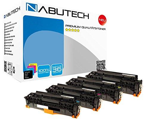 4 Nabutech Toner kompatibel zu 304A CC530A CC531A CC532A CC533A für HP Color Laserjet CM2320fxi MFP CM2320nf MFP CP2025 CP2025dn CP2025n