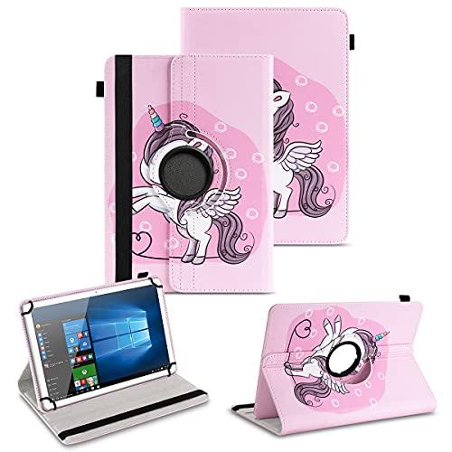 NAUC Tablet Hülle kompatibel für Jay-tech G10.11 LTE G10.10 Tasche Schutzhülle Cover 360° Drehbar Schutz Case Ständer, Farben:Motiv 16